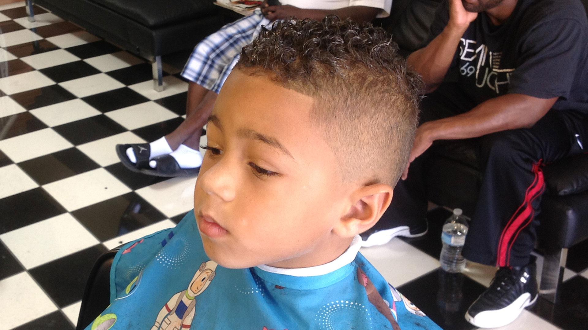 Fohawk haircut for kids