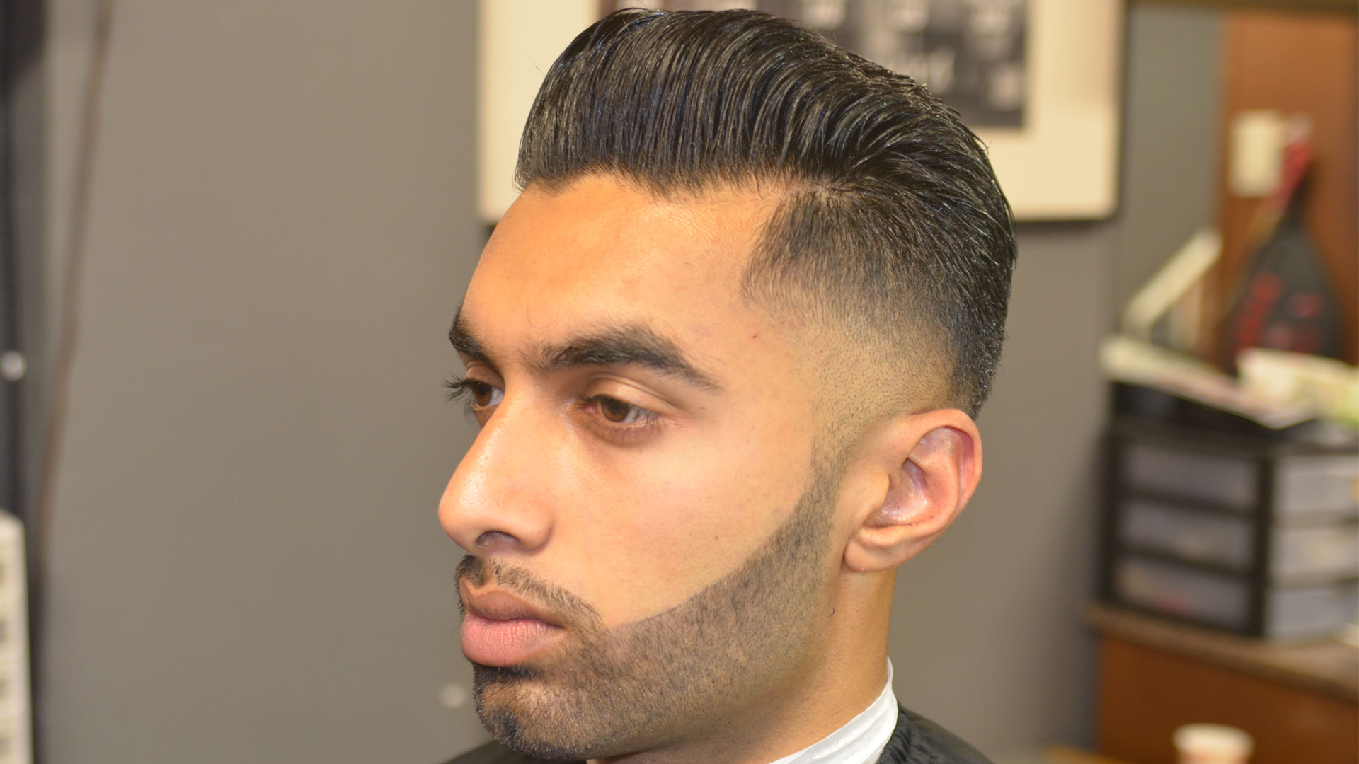 Enjoyable Premium Pompadour W Low Taper Bald Fade Amp Beard Dave Diggs Short Hairstyles Gunalazisus
